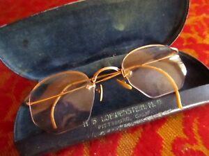 2a93de53acd1 True Vtg 40s Eye Glasses Shuron 12K Gold Filled Wire Frame Semi ...
