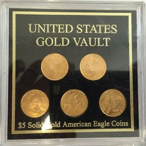 Image Is Loading United States Gold Vault 5 Solid American