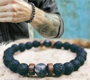 Bracelet-pour-hommes-perle-de-lune-naturelle-Bracelet-bouddha-tibetain-chakra