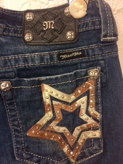 Miss Me boot cut jeans - size 29 - 33  inseam - EUC