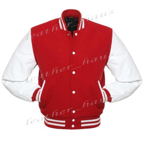 Faux Leather Sleeve Letterman College Varsity Men Wool Jackets WSL-WSTR-WB-FL
