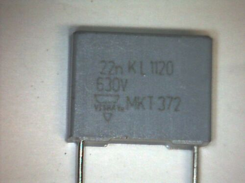 10x MKT Capacitor 22nF 0,022uF 630V DC Vishay BCC MKT372 Kondensator