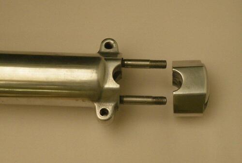 """AJS Model 18 /& Statesman /""""PAIR/"""" SLIDER SUSPENSION LEGS /""""DUAL LUGS/"""" UNIQUE UK Co."""