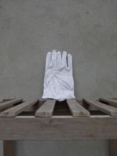 White Cotton Dress Gloves by Tails /& the Unexpected Snooker or Masonic gloves.