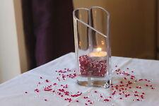 2000 x CLEAR & HOT PINK 4.5MM CHRISTENING DIAMOND CONFETTI TABLE DECORATION UK