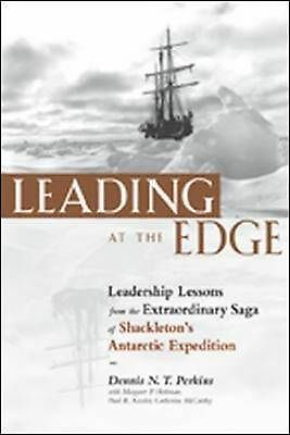 1 of 1 -  LEADING AT THE EDGE..DENNIS PERKINS..HARDCOVER..AS NEW   LNF751