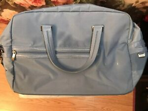 Tumi-Women-039-s-Baby-Blue-Travel-Bag-With-Leather-Shoulder-Strap-Pilot0004792