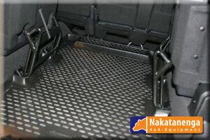 Black rear load area rubber mat set Fits Land Rover Defender TDCI 110 station wa