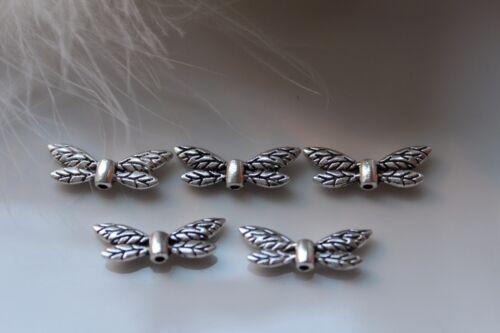 20-50 Engelsflügel Engelflügel Schmetterling Fee Metall Perle Flügel silber
