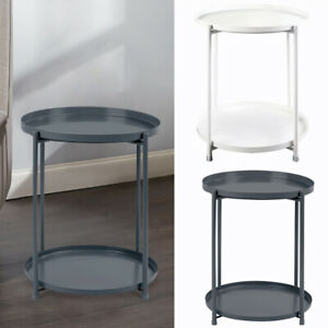 2-Tier-Nordic-Small-Metal-Round-Coffee-Table-Sofa-Side-End-Table-Tray-with-Shelf