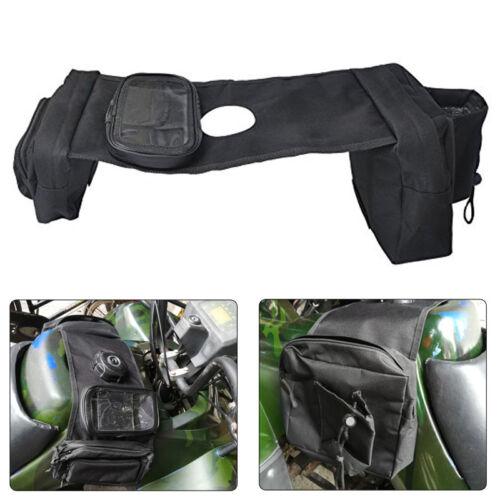 ATV Tank Bag Saddlebag Fuel Mobile Drink Holder for Yamaha Kawasaki KLR650 Honda