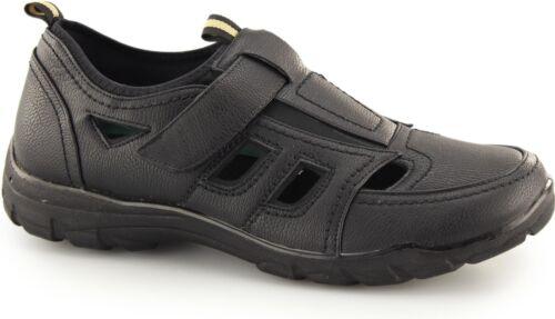 Dr Keller Chester Homme Wide Fitting Casual Comfy Touch Attacher Été Chaussures Noir
