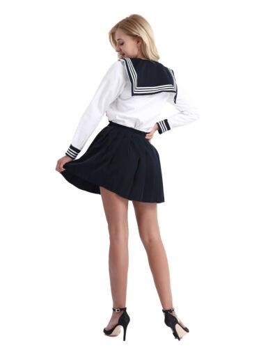 Cosplay Japanese School Girl Students Sailor Uniform Anime Fancy Dress Costume