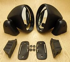 Toyota Celica TA22 RA28 RA20 TE27 Door Mirrors Complete Pair Bullet Black