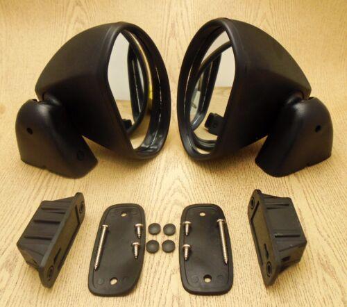 FOR Toyota Celica TA22-40 Corolla KE70-75 Fender//Door Mirror Black Bullet Pair