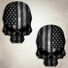 Subdued Flag Skull Decal Sticker American Military Tactical Sniper Decals