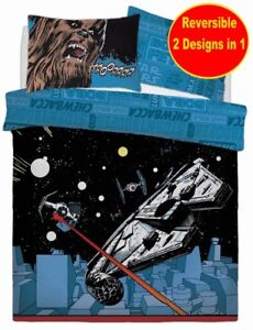 NEW-DISNEY-STAR-WARS-DOUBLE-DUVET-QUILT-COVER-SET-BOYS-KID-BLUE-BED-GIFT