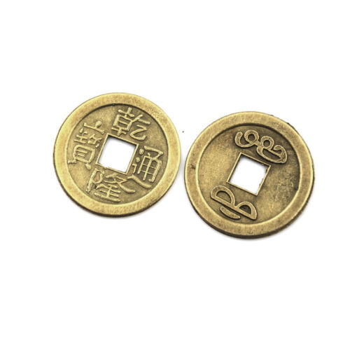 20x Feng Shui Coins 2.3cm Lucky Chinese Fortune Coin I Ching Money Alloy Hot CRH