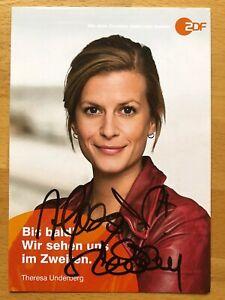 Theresa-Ursule-Ak-ZDF-Friesland-Carte-Autographe-Original-Signe