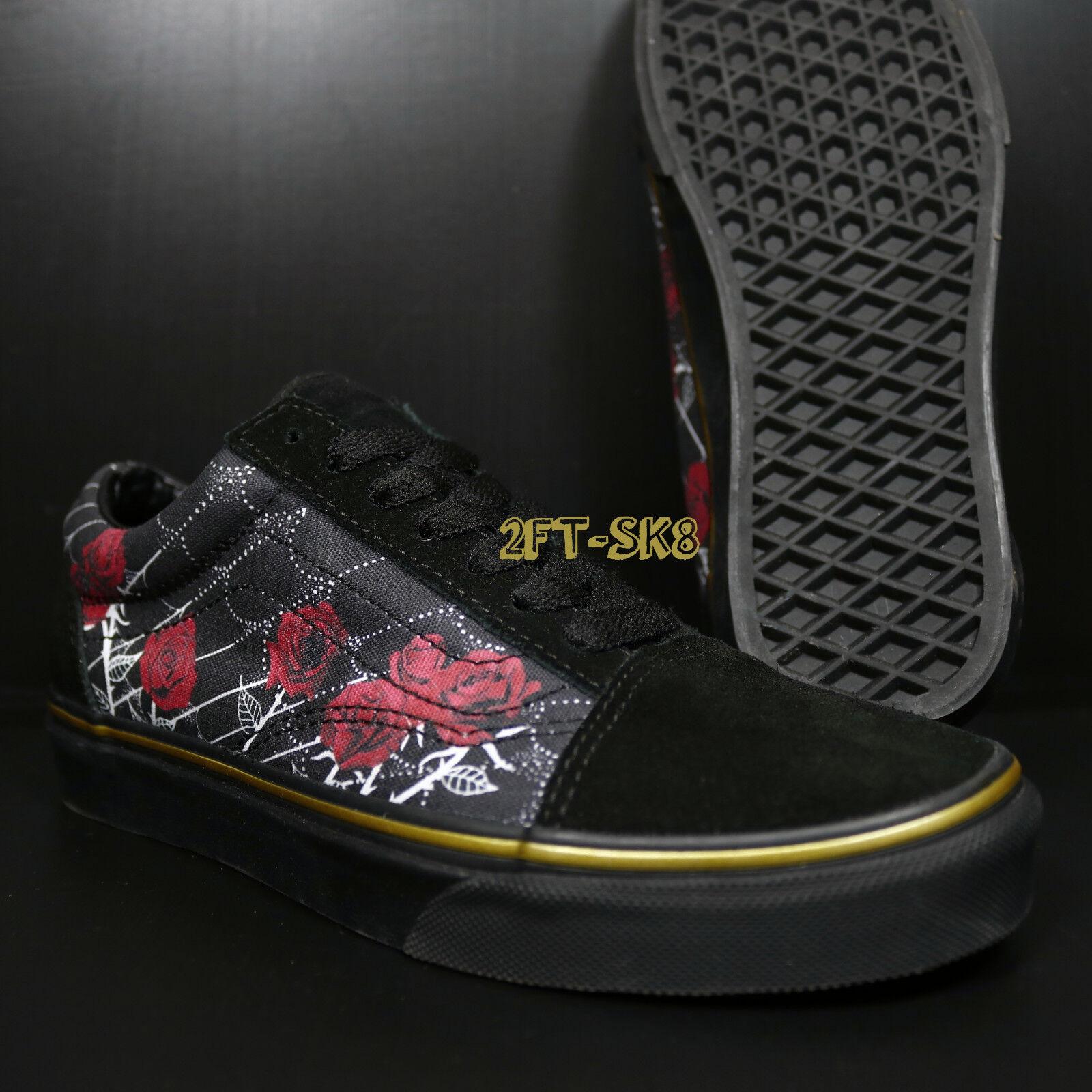 VANS OLD SKOOL SPIDER ROSES MULTI METALLIC WOMEN'S SKATE Schuhe/ S85122.219