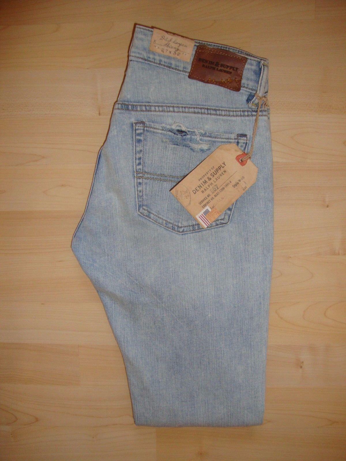 Ralph Lauren Da Donna    Trenton  BLU  Morgan  skinny di jeans W27 L32 NUOVO con etichetta e3243a