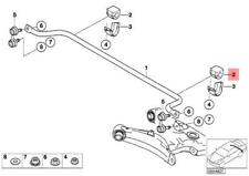 2000-2006 BMW X5 E53 A Pair Rear Suspension Sway Bar Bushings OEM 33551096893