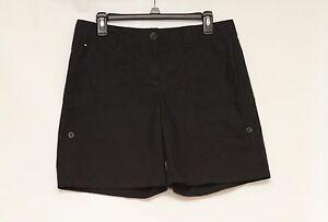 Tommy-Hilfiger-Womens-Black-Cotton-Shorts-Size-8