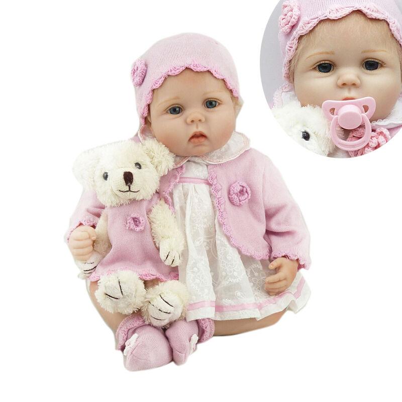 22  Bambino Reborn IN SILICONE BABY GIRL Bambola realistica vinile realistici neonato Toys