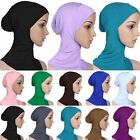 "16.5"" Colorful Cotton Muslim Inner Hijab Caps Islamic Underscarf Hat Ninja Hijab"
