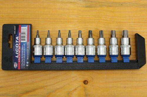 """1//2/"""" long 55mm qualité industrielle Torx-noix set t20-t60 9tlg"""