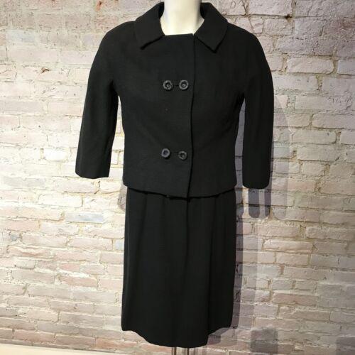 Vintage 60's Fernando Sarmi Black Dress Set Coutur