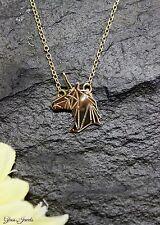 Einhorn Unicorn Gold Kette Halskette Origami Stil Fantasy Glass Jewels #B072