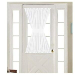 Magideal 2pcs Home French Door Curtains