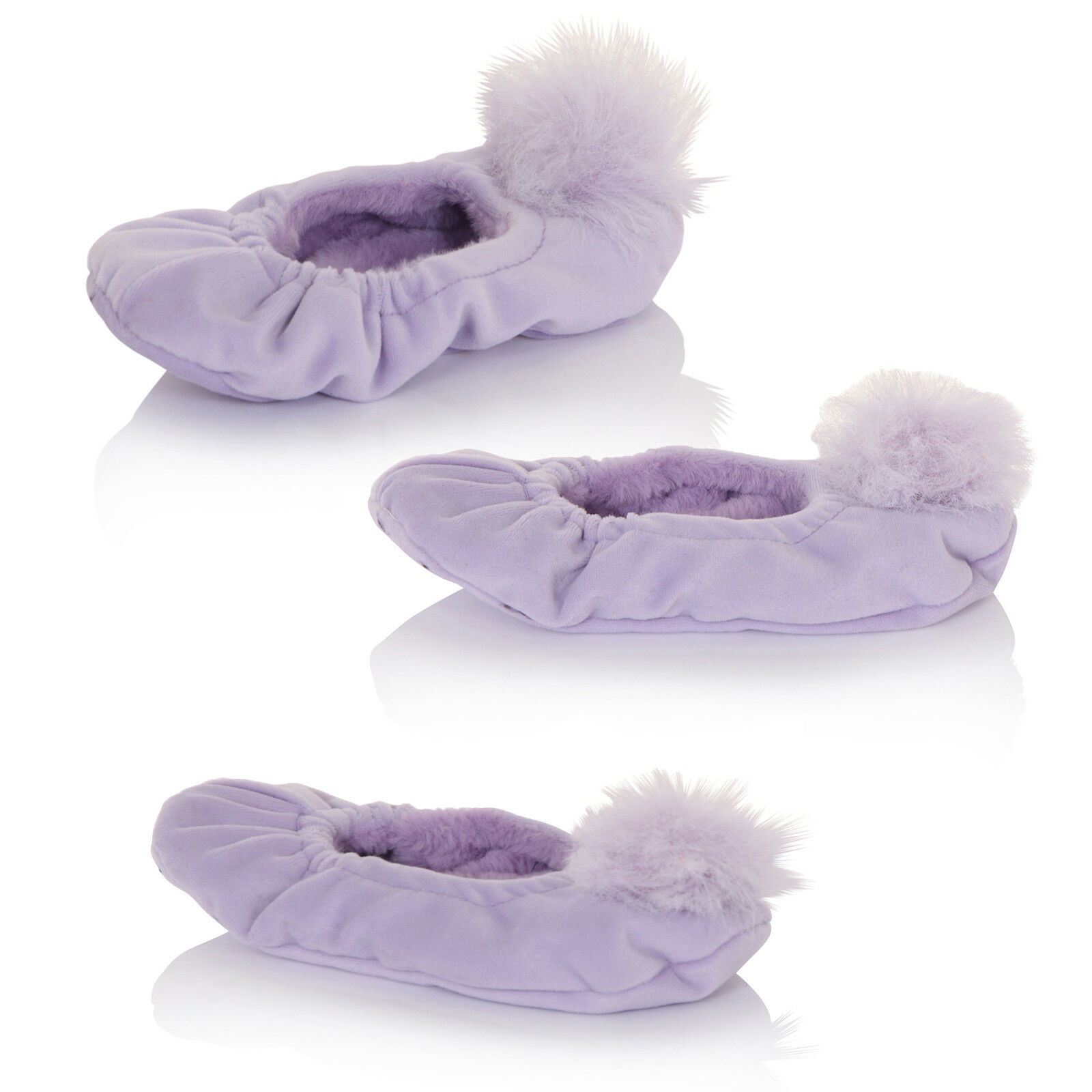 Loungeable Womens Pom Slipper Sock Nightwear New Ladies Elasticated Footwear