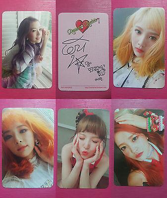 Terciopelo Rojo 3rd mini álbum la ruleta rusa Wendy Foto Tarjeta Oficial K Pop