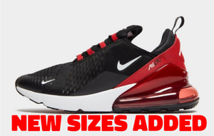 Details about Nike Air Max 270 Black Red Mens UK Size 7 10 Trainers Exclusive Special Edition