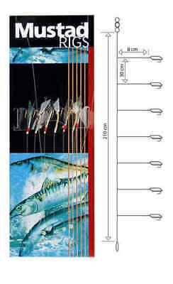 Mustad Microkiller Rig T90 Heringsvorfach Meeresvorfach Makrelenvorfach