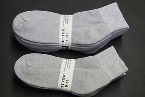 5-Pairs-Cotton-LOW-CUT-Ankle-Socks-9-11-10-13-gray-Men-039-s-Women-039-s-Sports-Socks-M