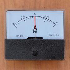 -5 a a 0 a +5 un DC AMPEROMETRO Amp Panel Meter Analogico Analogico Interno SHUNT 5-0-5