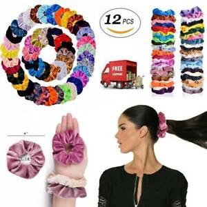 12-Pcs-Hair-Scrunchies-Velvet-Elastics-Hair-Ties-Scrunchy-Bands-Ties-Ropes-Set