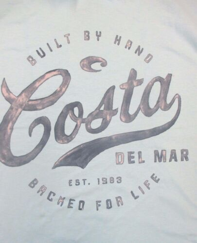 New Authentic Costa Del Mar, Legend , Sky Blue Short Sleeve TShirt Size Large