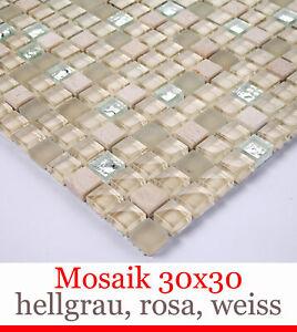 Piastrelle-Pavimento-Mattonelle-Della-Parete-Mosaico-30x30cm-Glas-amp-marmor