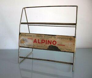 INSEGNA-TABELLA-ESPOSITORE-VINTAGE-ALPINO-RODOLFI-PARMA-EXHIBITOR-TABLE-SIGN