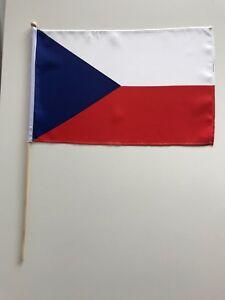 Bandiera bandiera Repubblica Ceca 30x45 cm con bastone