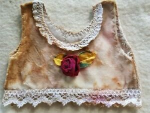 Roses-Samthemdchen-Shabbychic-For-Approx-10-3-16-11-13-16in-Bears-Or-Doll