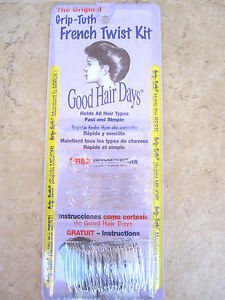 Grip-Tuth-French-Twist-Kit-Crystal-6-Piece-Package-Good-Hair-Days-Made-In-USA