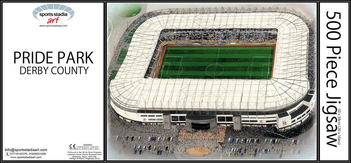 Pride Park Stadia Fine Art 500pc Jigsaw Puzzle - Derby County Football Club