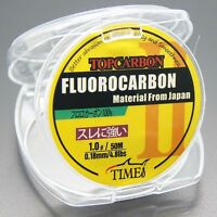 Fluorocarbon Fishing Line 4.8lb/50m Color Clear Material From Japan