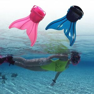 Adjustable Kids Mermaid Mono Tails Fin Flippers Swimming