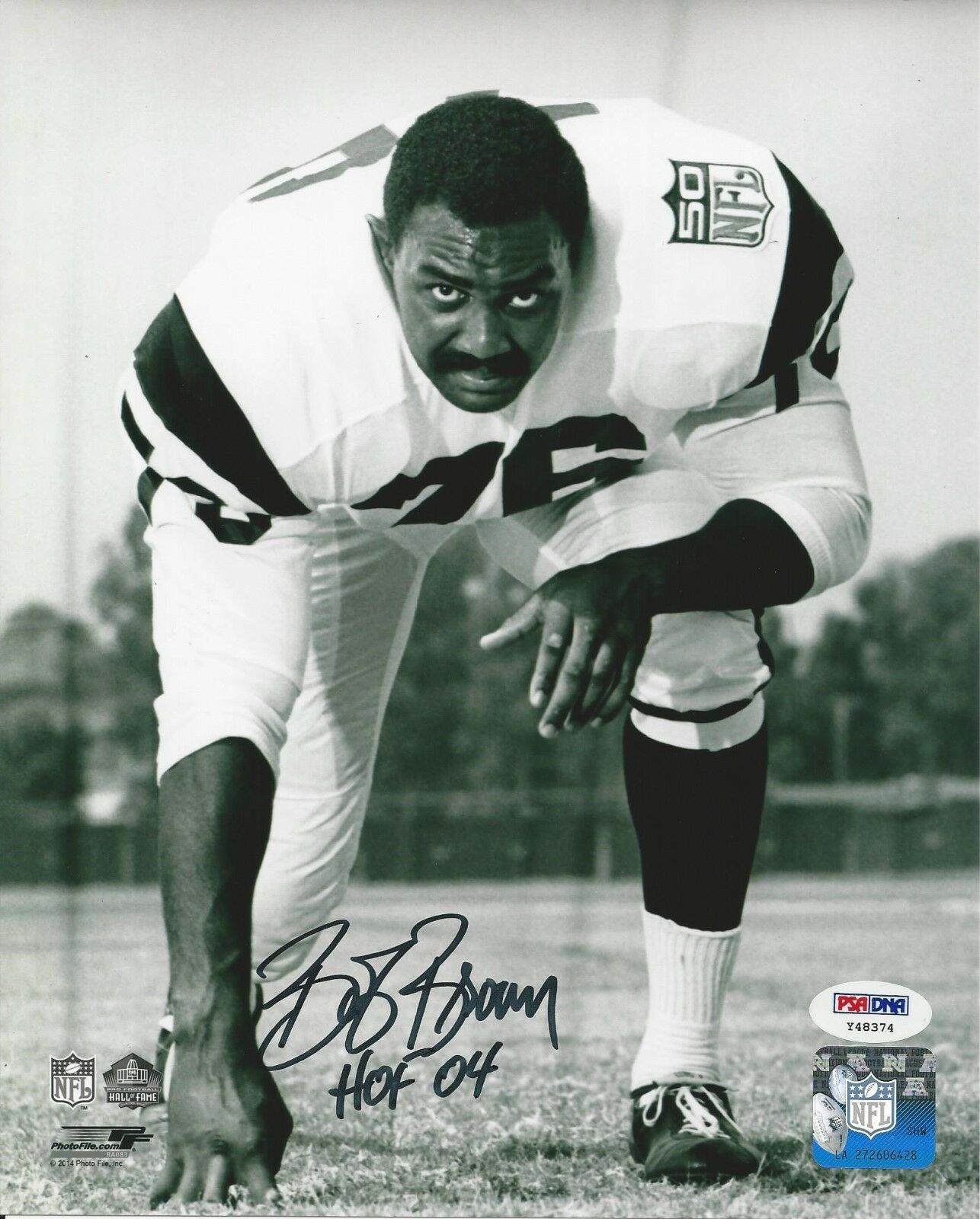 Bob Brown Los Angeles Rams Signed 8x10 Photo - PSA/DNA # Y48374